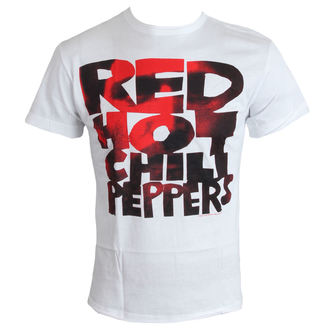 Herren T-Shirt   Red Hot Chilli Peppers - Type Face Fill - White - AMPLIFIED