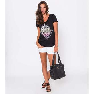 Damen T-Shirt  METAL MULISHA - Compass Rose Scop - BLK