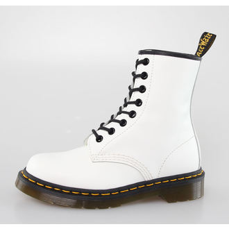 Stiefel Boots DR. MARTENS - 8 Loch - 1460 - WEISS SMOOTH