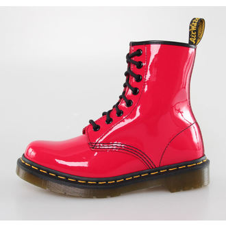 Stiefel Boots DR. MARTENS - 8 Loch - 1460 - W RED ROUGE PATENT LAMPER