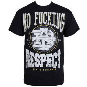 Herren T-Shirt A DAY TO REMEMBER - Respect - BLACK - LIVE NATION - PE12153TS