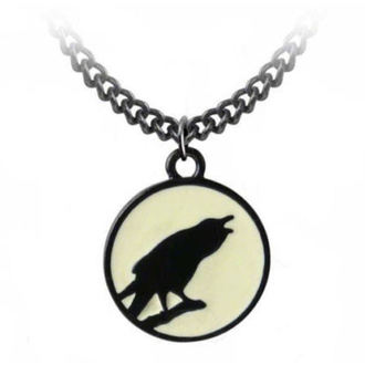 Kette mit Anhänger ALCHEMY GOTHIC - Caw At The Moon - P735