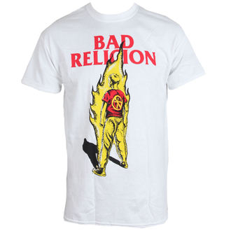 Herren T-Shirt BAD RELIGION - Flame - WEISS - LIVE NATION - PE12157TS