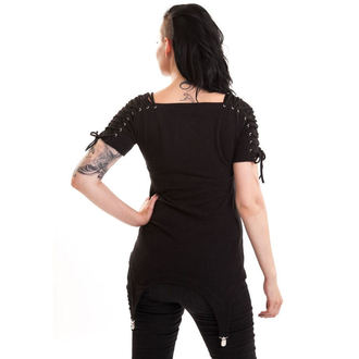 Damen T-Shirt  (Tunika) POIZEN INDUSTRIES - Regret - Black