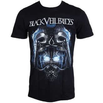 Herren T-Shirt BLACK VEIL BRIDES - Metall Maske - BLK - LIVE NATION - PE12118TSBP