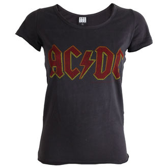 Damen T-Shirt AC/DC -Logo - Charcoal - AMPLIFIED - ZAV601ACL