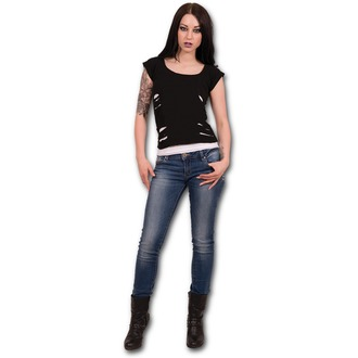 Damen T-Shirt SPIRAL - Urban Fashion - Black - P004F710
