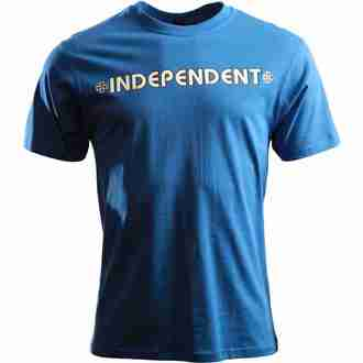 Herren T-Shirt  INDEPENDENT - Bar Cross - ITSBA - BLAU