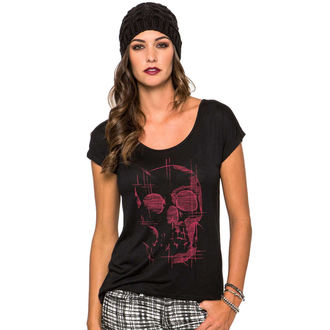 Damen T-Shirt  -top- METAL MULISHA - Death Trip - BLK