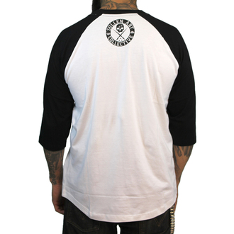 Herren T-Shirt  mit 3/4-Arm SULLEN - Badge Of Honor - Wht/Blk