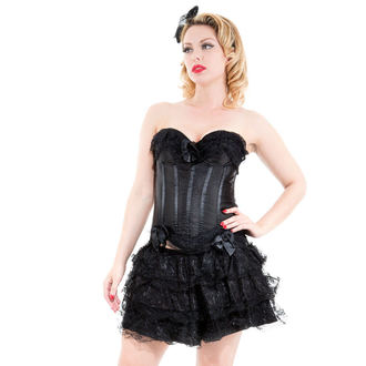Korsett a Rock Damen HEARTS AND ROSES - Black Corset With Skirt - 8068black