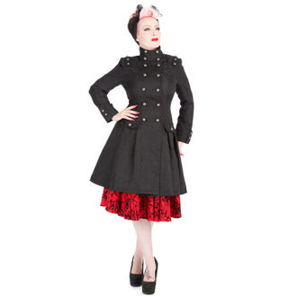 Mantel Damen für Frühling/Herbst HEARTS AND ROSES - Black Brocade Trench - 9190