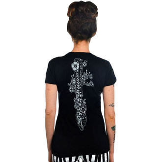 Damen T-Shirt  TOO FAST - Flower Spine - Black