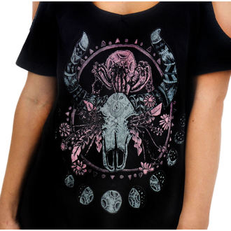 Damen T-Shirt  (Top) TOO FAST - Cosmic Cow - Black