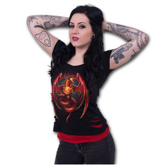 Damen T-Shirt  SPIRAL - Dragon´s Wrath - Black - L026F711