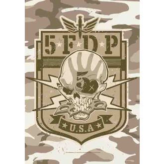 Fahne Five Finger Death Punch - Camo Skull, HEART ROCK, Five Finger Death Punch