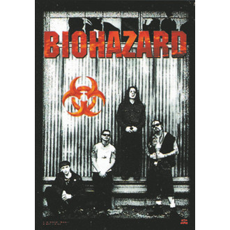 Fahne Biohazard - Band, HEART ROCK, Biohazard