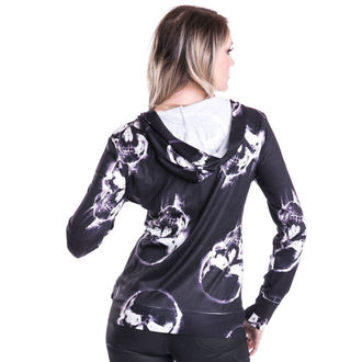 Damen Hoodie  POIZEN INDUSTRIES - Skull Ink - Black