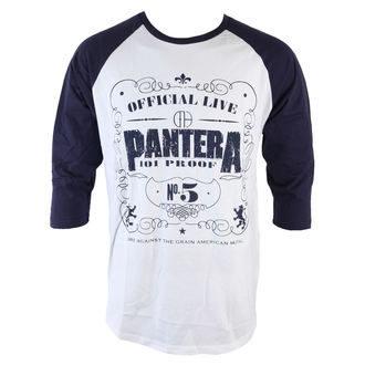 Herren T-Shirt  mit 3/4-Arm Pantera - 101 Proof - ROCK OFF - PANTBS01WBL