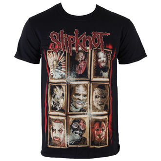 Herren T-Shirt  Slipknot - New Masks - Black - ROCK OFF - SKTS13MB
