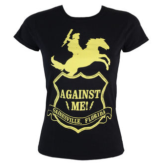 Damen T-Shirt  - Against Me -Shield - Black - KINGS ROAD, KINGS ROAD, Against Me!