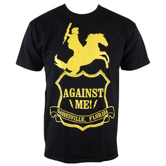Herren T-Shirt  - Against Me - Shield - Black - KINGS ROAD, KINGS ROAD, Against Me!