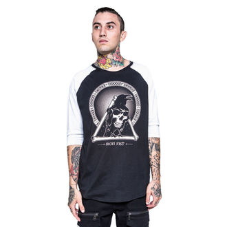 Herren T-Shirt  mit 3/4-Arm IRON FIST - Throne - Black/White - IFM003723