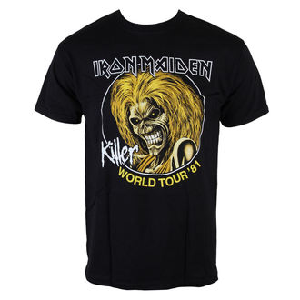 Herren T-Shirt Iron Maiden - Killers World Tour 81 - Blk - ROCK OFF - IMTEE43MB