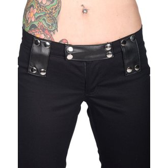 Hose Damen BLACK PISTOL - Stud Low Cut Black Denim - B-1-39-001-00