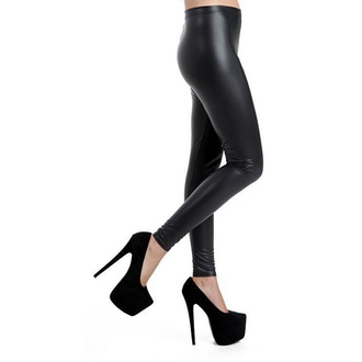 Stretch Leggings PAMELA MANN - Leder Imitation - Schwarz - PM223