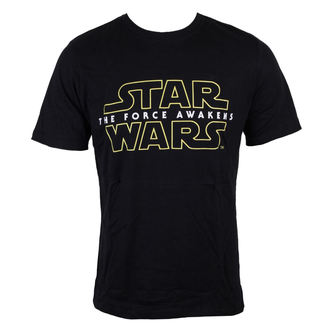 Herren T-Shirt Star Wars - Star Wars VII - The Force erwacht Logo - Black - INDIEGO, INDIEGO