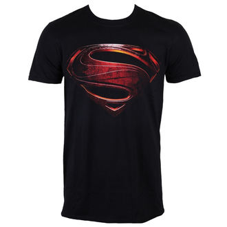 Herren T-Shirt Superman - Man Of Steel - Black - INDIEGO, INDIEGO