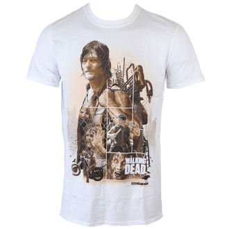 Herren T-Shirt The Walking Dead - Daryl Montage - White - INDIEGO, INDIEGO