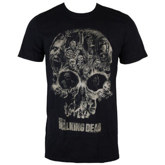 Herren T-Shirt The Walking Dead - Skull - Black - INDIEGO - Indie0327
