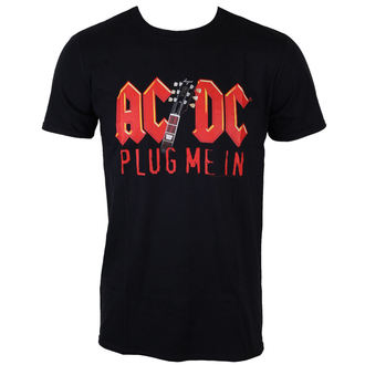 Männer Shirt AC/DC - Plug me in with Angus Young - BLK - LOW FREQUENCY - ACTS050012