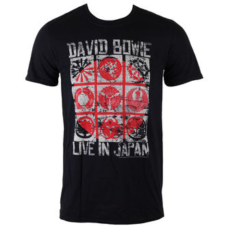 Männer Shirt David Bowie - Live In Japan - Black - ROCK OFF - BOWTS14MB
