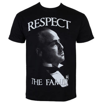 Herren T-Shirt Godfather - The Gothfather - Respect The Family - Black - HYBRIS - PM-1-TGF005-H26-15