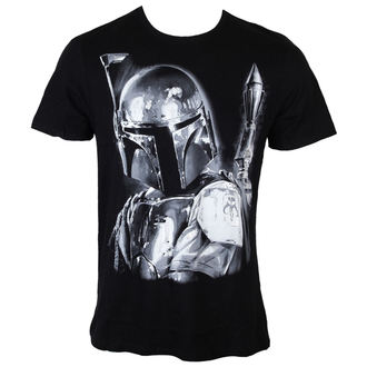 Herren T-Shirt Star Wars - Boba Fett Silver Millar - Black - LEGEND - HSTTS1400