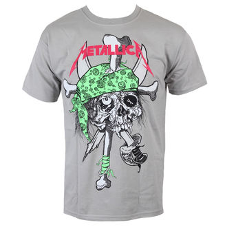 T-Shirt Männer  Metallica - Metal Pirate - Grey - LIVE NATION - MTLTSZPIRP