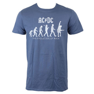 T-Shirt Männer  AC/DC - Evolution Of Rock - Heather Blue - LIVE NATION - PE13328TSCP