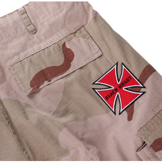 Männer Shorts BLACK HEART - Woodland - Red Cross - Camo - BH156