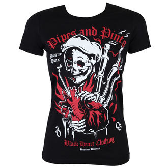 Damen T-Shirt  BLACK HEART - Pipes And Pints - BLK - BH125