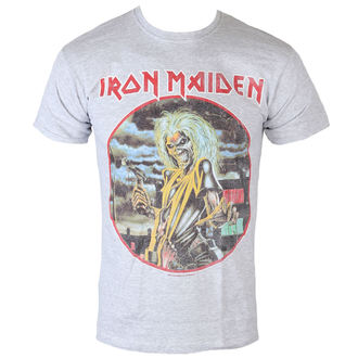 T-Shirt Männer  Iron Maiden - Killers - cirlcle - Heather - ROCK OFF - IMTEE53MH
