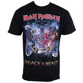 Herren T-Shirt  Iron Maiden - Legacy Of The Beast - ROCK OFF, ROCK OFF, Iron Maiden