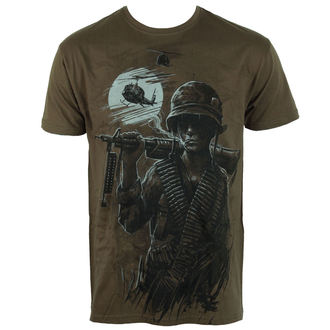 Herren T-Shirt ALISTAR - War is Hell - olive, ALISTAR