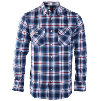 Herren Langarmhemd INDEPENDENT - Faction Blue Check - INALTE-001 F16  BLAU  CHECK