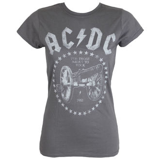 Damen T-Shirt AC / DC - FTA2R - charcoal - LIVE NATION - PE13928SKCP