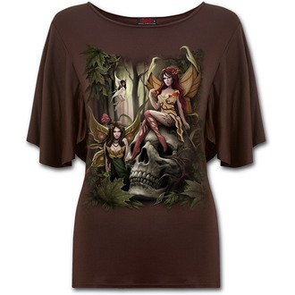 Damen T-Shirt SPIRAL - WOODLAND FAIRY - Chocolate - L030F748