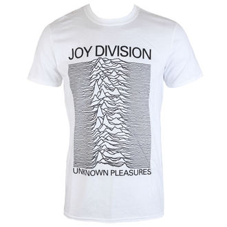Herren T-Shirt Joy Division - Unknown Pleasures - Weiß - PLASTIC HEAD, PLASTIC HEAD, Joy Division