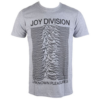 Herren T-Shirt Joy Division - Unknown Pleasures - Grau - PLASTIC HEAD - PH10116-2